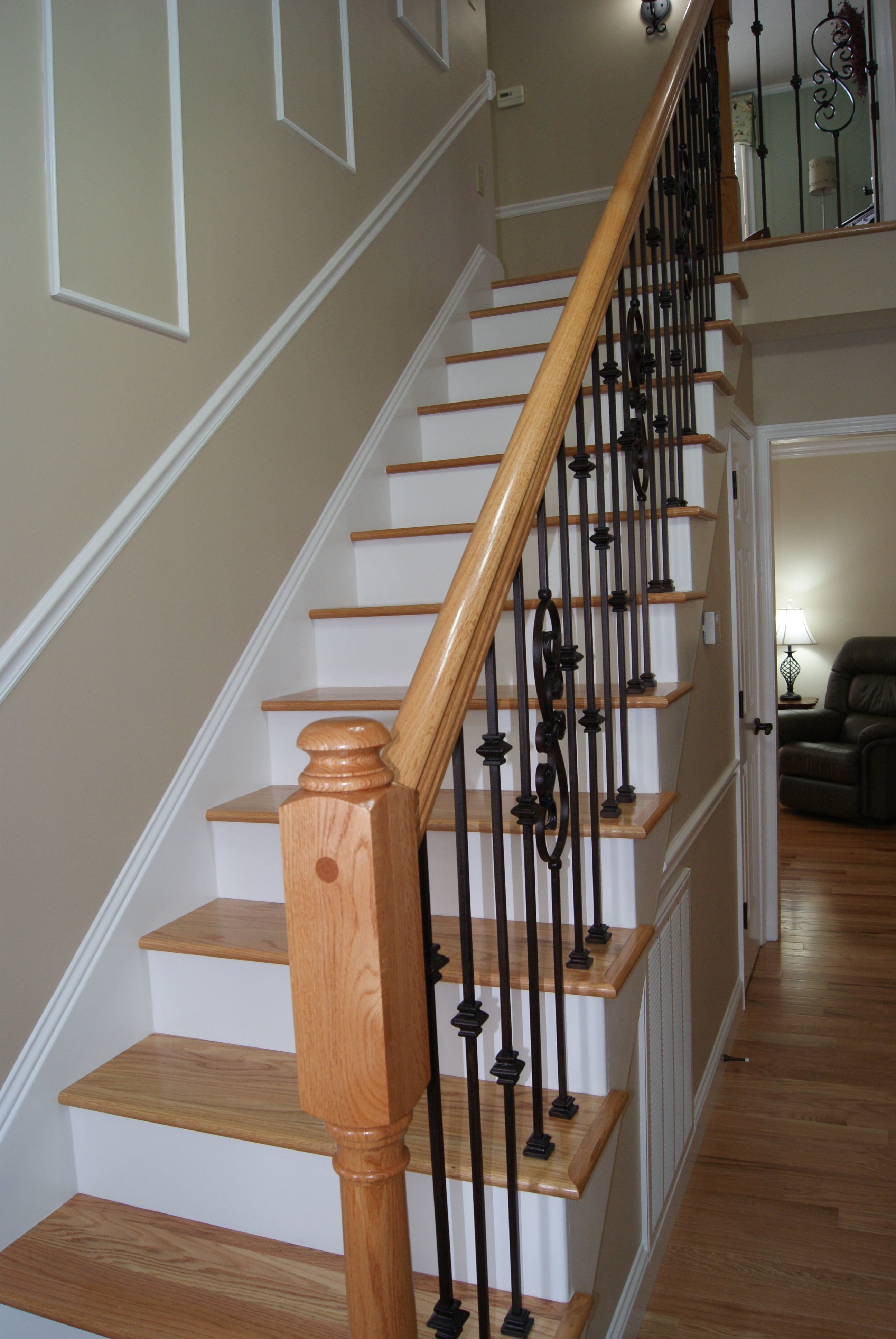 Best Red Oak Stair Treads With Red Oak Iron Stair System 400 x 300