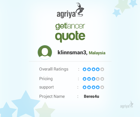 A Word From Klinnsman About AgriyaS Getlancer Quote  Thumbtack