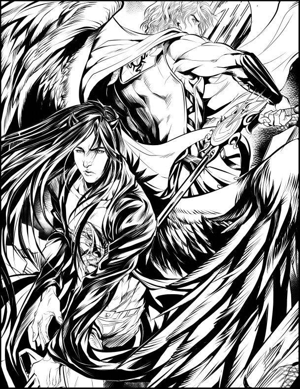 Styxx Acheron Art Coloring Dark Hunter Sherrilyn Kenyon Dark
