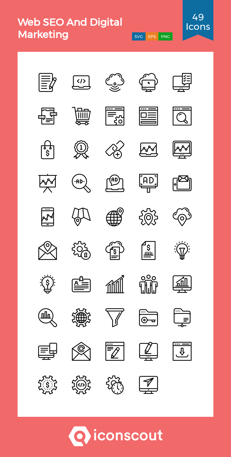 Download Web Seo And Digital Marketing Icon Pack Available In Svg Png Eps Ai Icon Fonts In 2020 Marketing Icon Web Seo Icon Pack