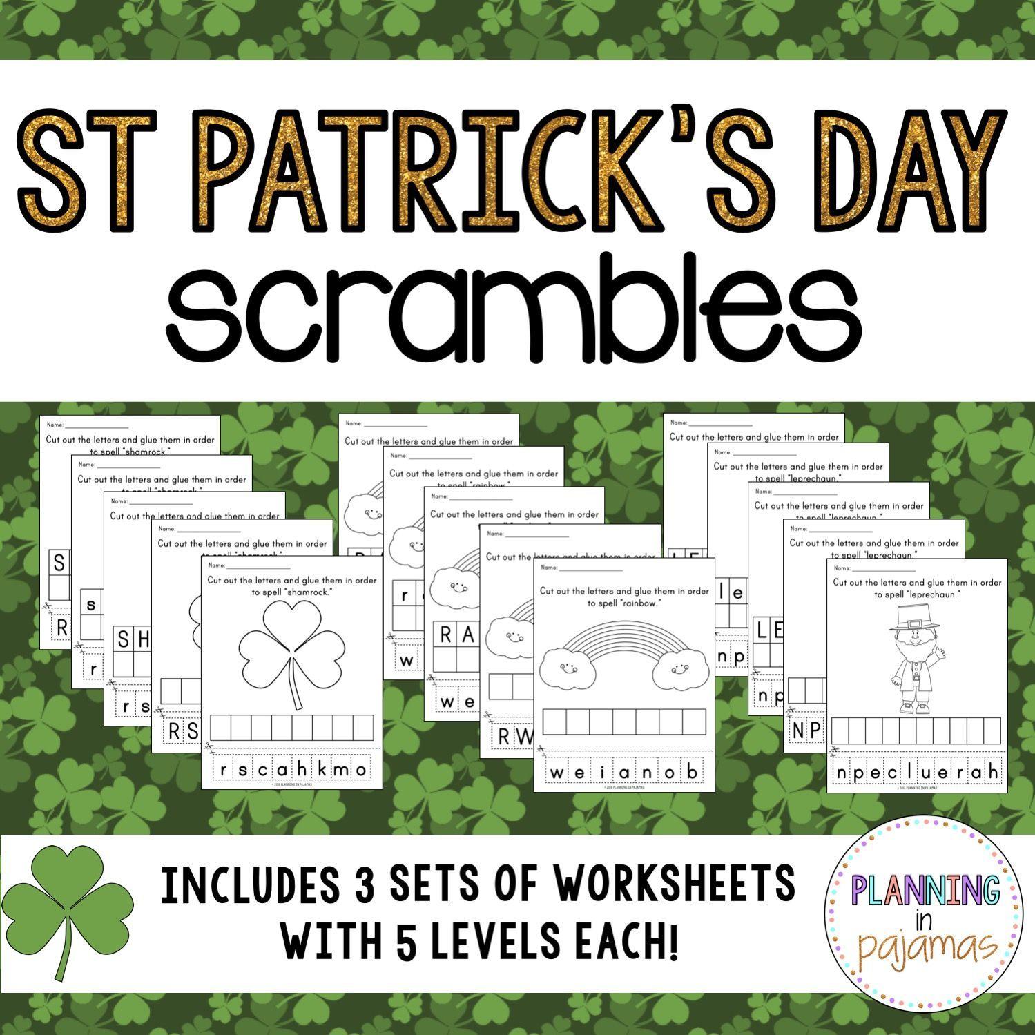 Saint Patrick S Day Letter Scrambles