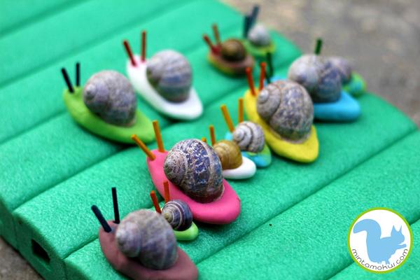 drying out play dough snails schnecken pinterest basteln kindergarten und schnecken. Black Bedroom Furniture Sets. Home Design Ideas