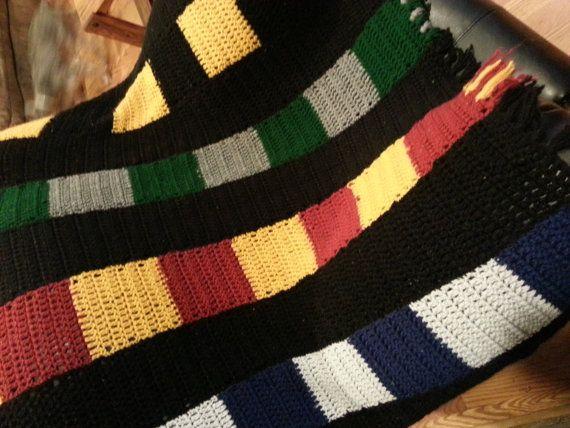 Hogwarts House Scarf Blanket Harry Potter By Thegeekyfanattic