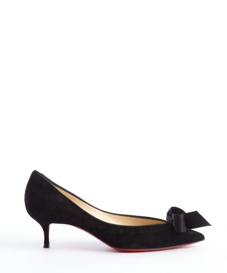 christian louboutin kitten heels black