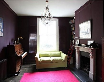 Pin By Melissa On In My Lair Bear Farrow And Ball Living Room Plum Living Rooms Living Room Paint