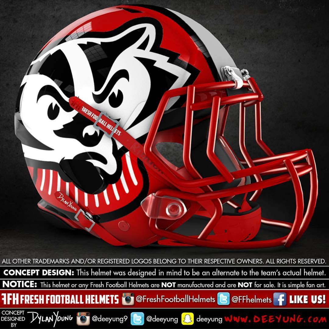 Wisconsin Badgers alternative football helmet