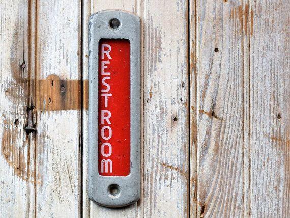 Vintage Occupied Restroom Door Sign Home Bathroom Wall Decor Lavatory Toilet Privacy Indicator Plaque Ind Vintage Toilet Bottle Opener Wall Bathroom Wall Decor