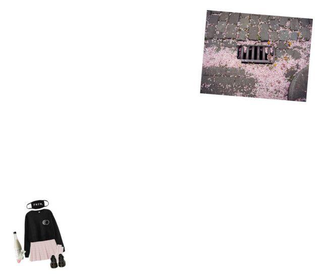 """""""ピンクと黒"""" by alessiap-06 on Polyvore featuring moda, Johnstons of Elgin e Dr. Martens"""