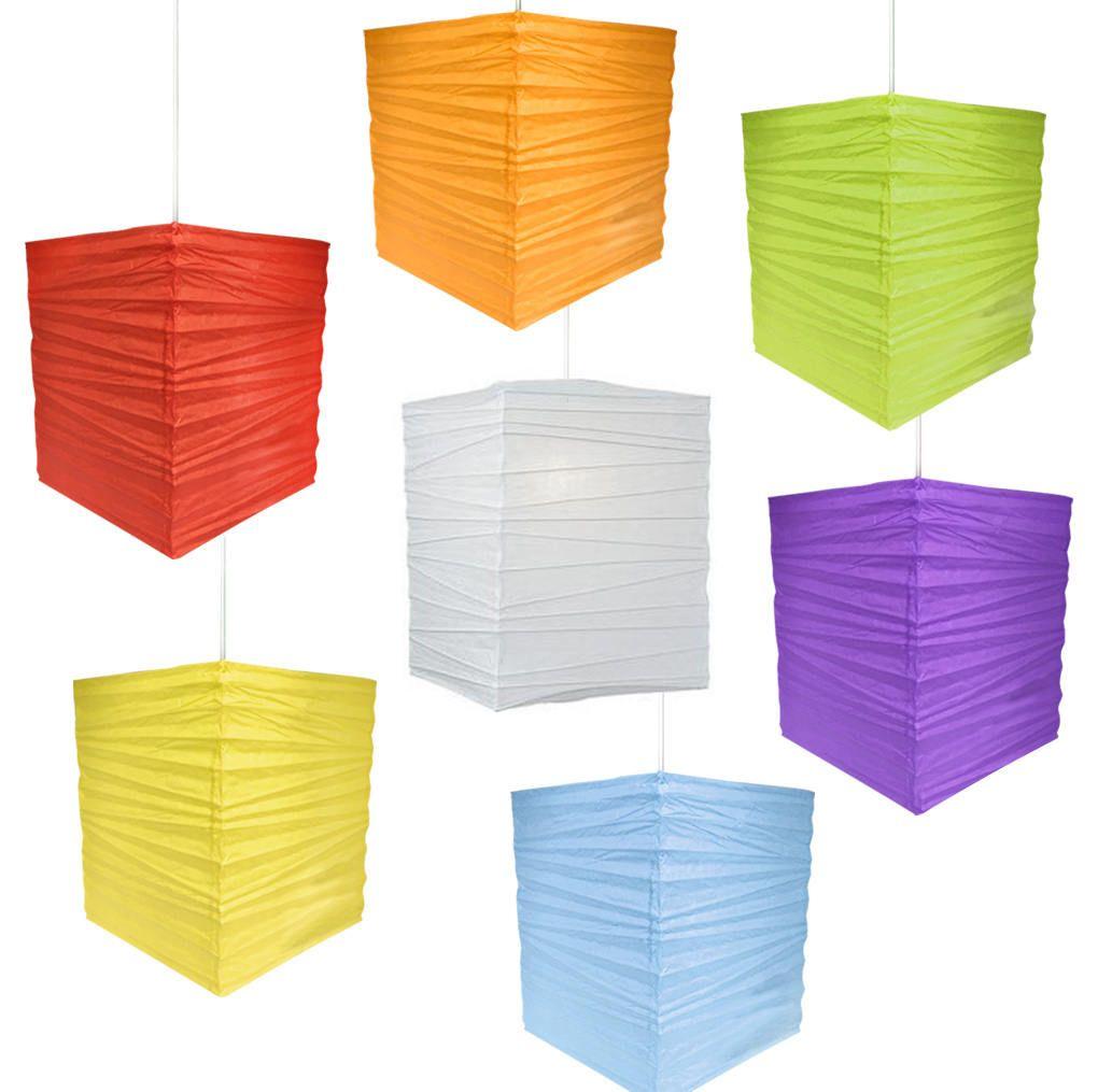 5 pcs Rectangular Paper Lanterns (30cm)- Wedding, Party Decor, Event ...