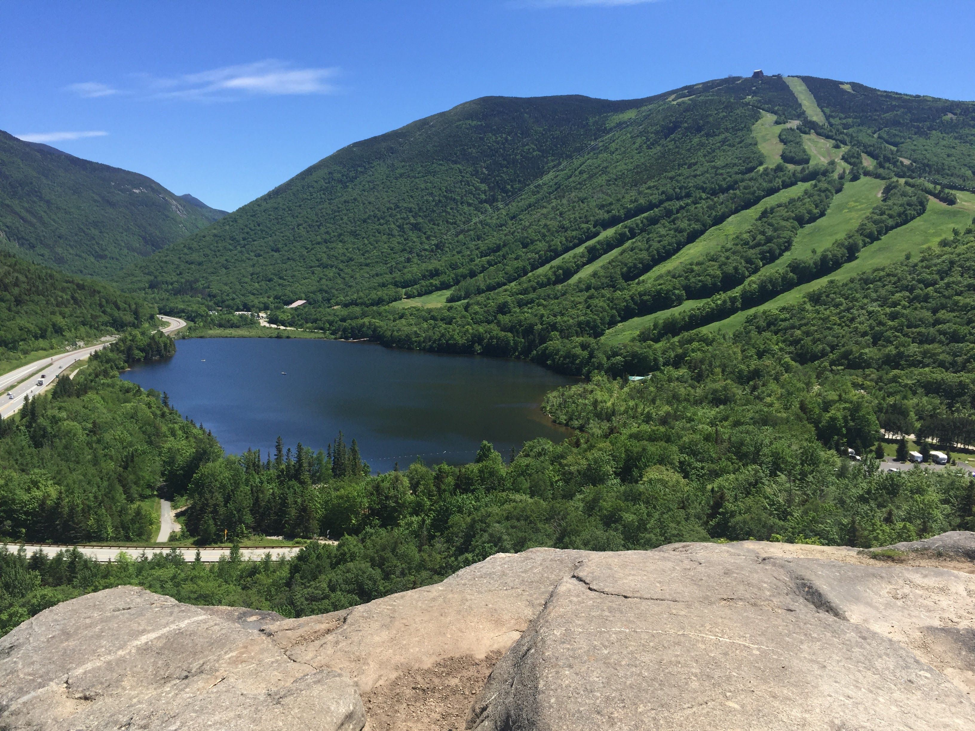 Artist's Bluff view of Cannon Mountain in 2020 Cannon