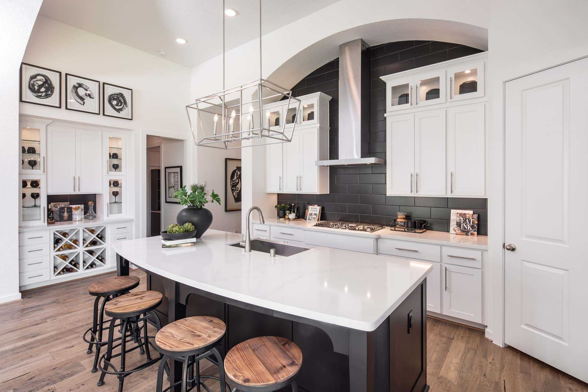 Kitchen in highland homes 540 plan at 114 canary island