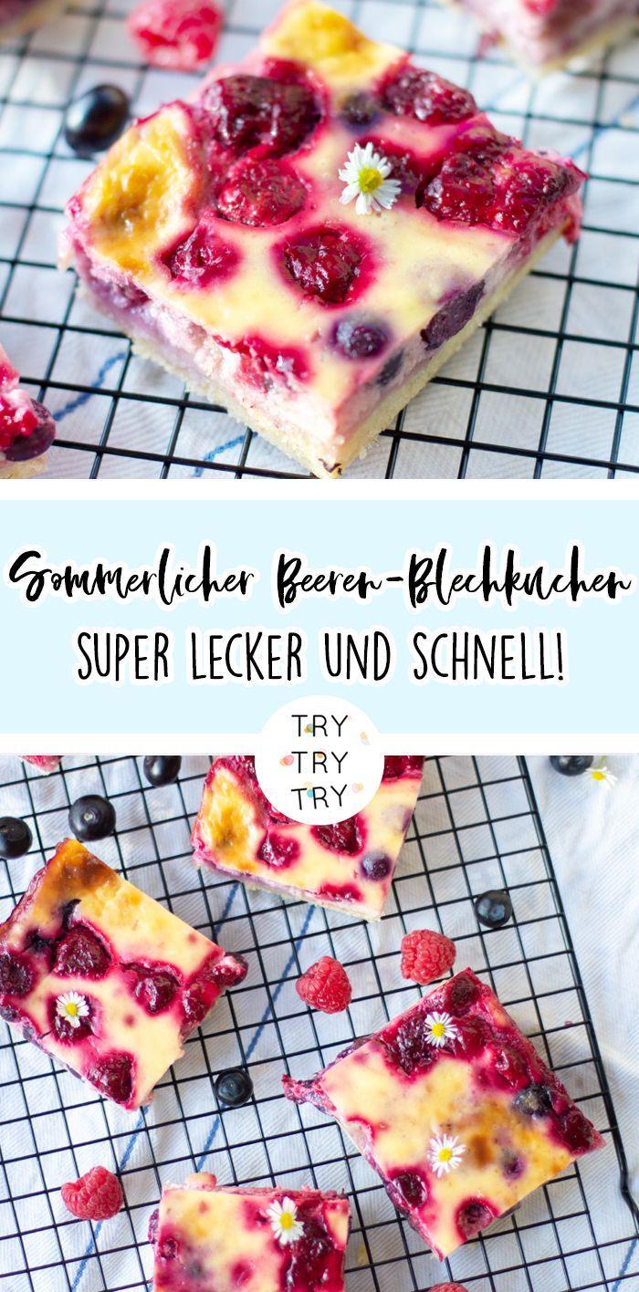 Sommerlicher Beeren-Blechkuchen #simplecheesecakerecipe