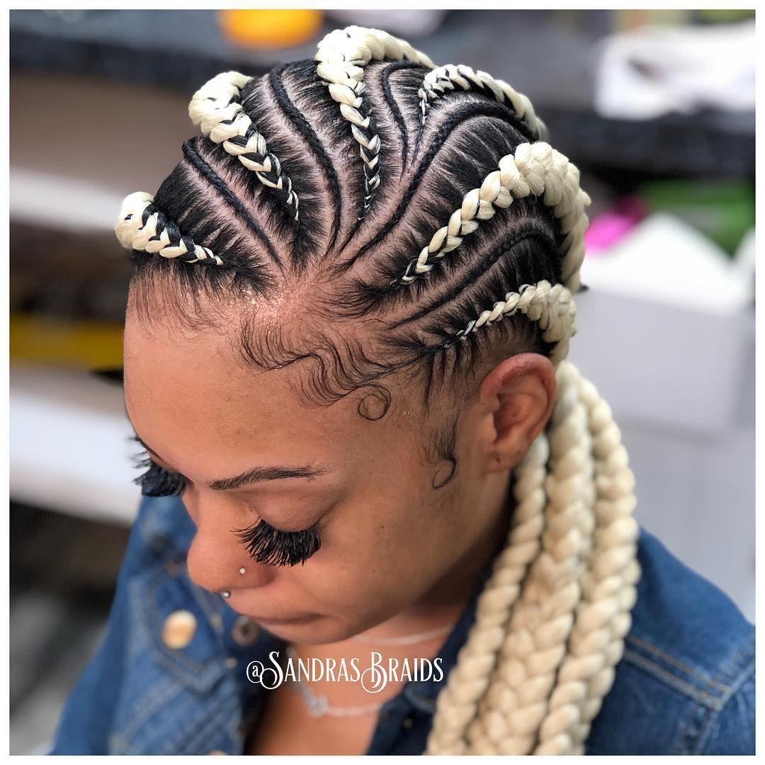 30 Beautiful Cornrow All Back Styles For 2021 Thrivenaija In 2021 Hair Styles Braided Hairstyles For Black Women Cornrow Hairstyles
