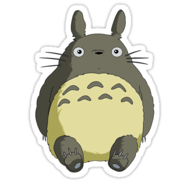Totoro sticker by pacmen