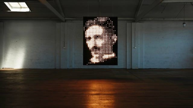 Tesla | Light Sculpture | We modified 759 light globes in a tribute to one of the world's great visionaires - Nikola Tesla.  ambience: http://www.ambiencelighting.com.au Duro Cubrilo:  http://www.durocubrilo.com Music: Electricity Part 2 by AEED Photo: Ben Glezer