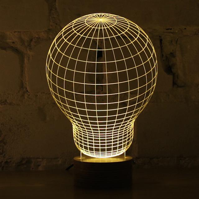 3d Optical Illusion Of 2d Lamps Magical Lamp Lamp Design Table Lamp