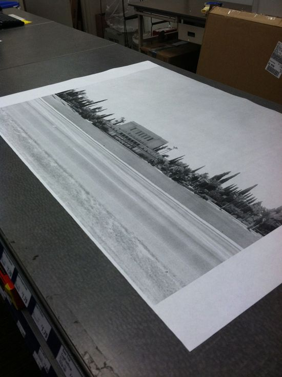 printing extra large black and white posters at Kinkos for only $4 - copy blueprint paper free