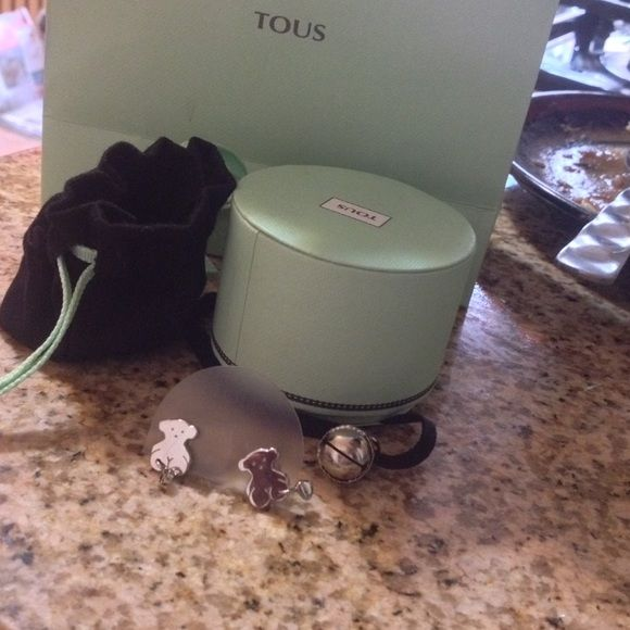 Brand new Tous earrings Brand new wih box and bag Sterling silver