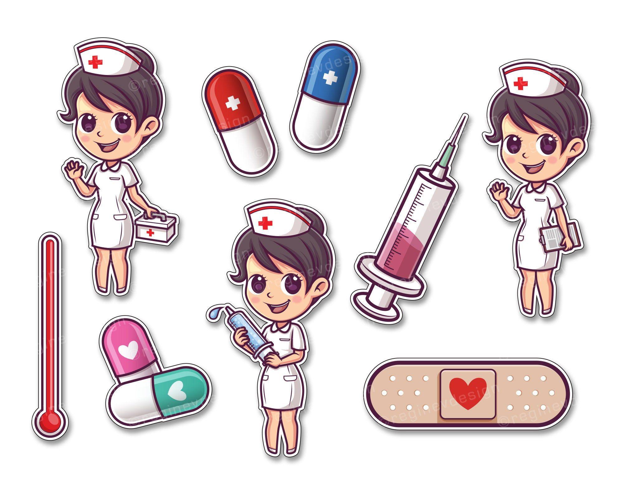 Cute Nurse And Hospital Clipart Hospital Female Girl Medicine