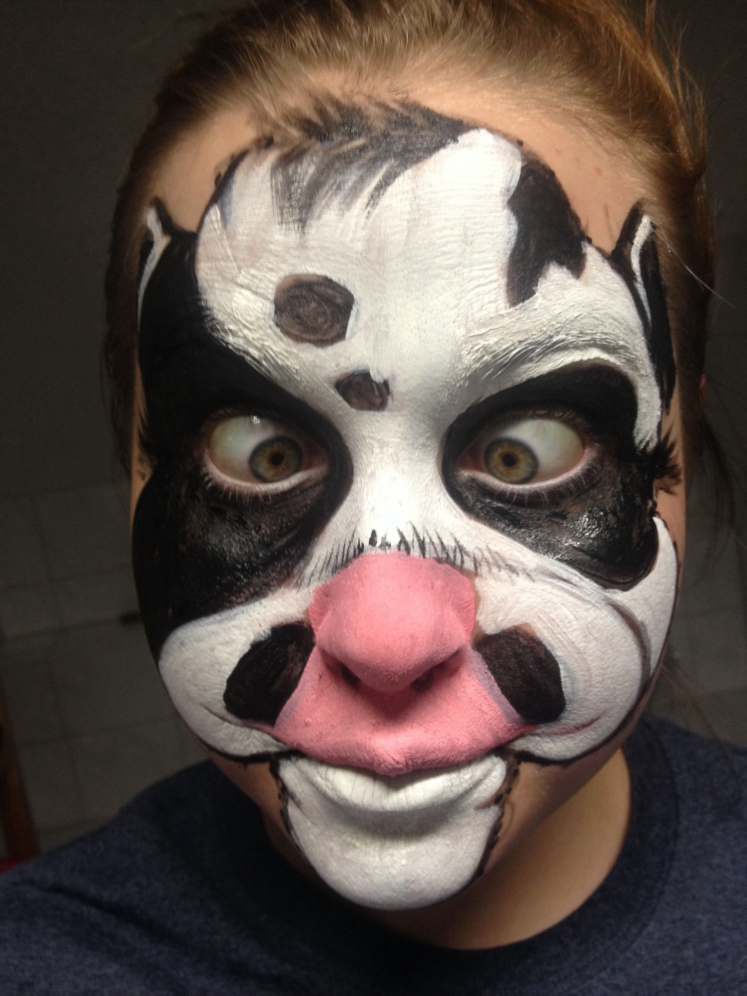 Crazy Cow Face Paint Super Easy For Kids Cow Face Paints Cow Costume Cow Face