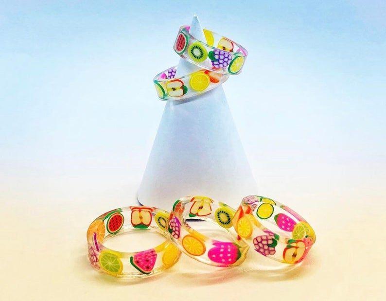 Pitaya Fruit Children//Kids Adjustable Rings