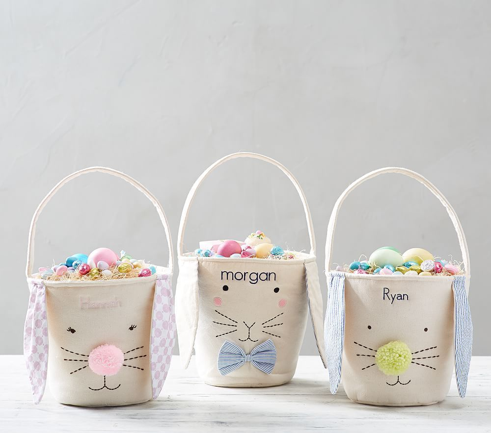 Canvas Bunny Buckets Pink At Pottery Barn Kids In 2020