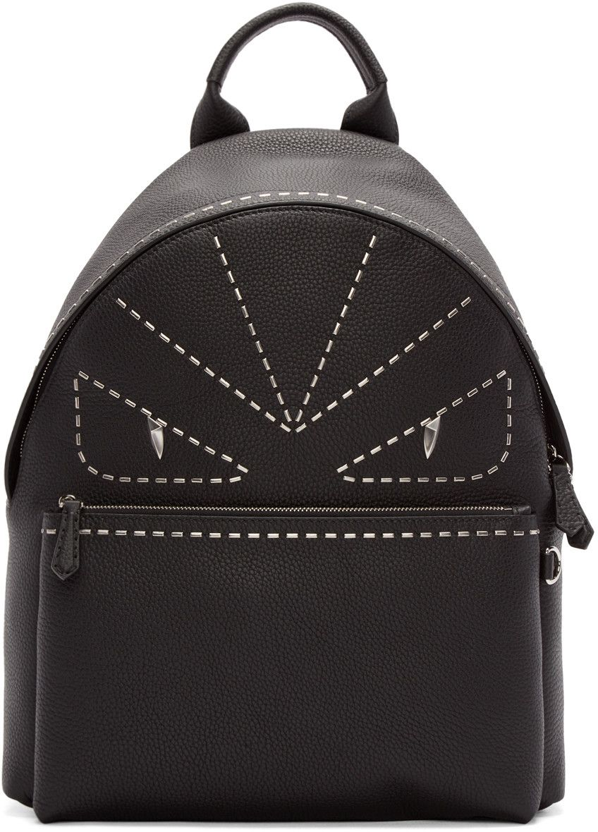 3a3a1eee6563 FENDI Black Studded Monster Backpack.  fendi  bags  leather  backpacks