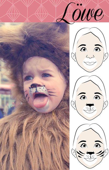 Carnaval maquillaje cara león
