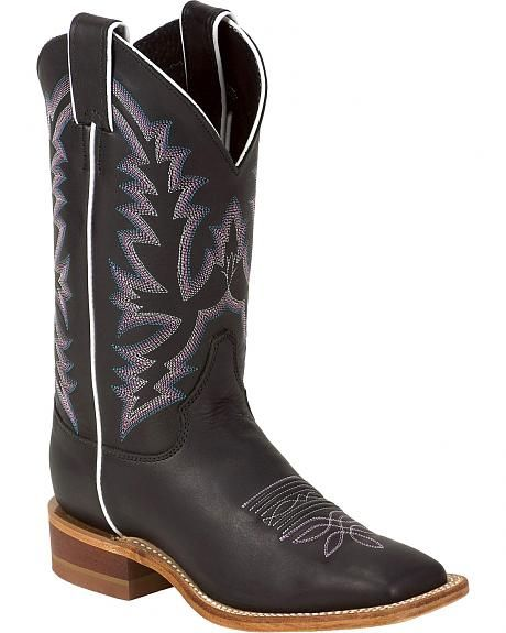 4df180c41a1c Justin Bent Rail Burnished Calf Cowgirl Boots - Square Toe