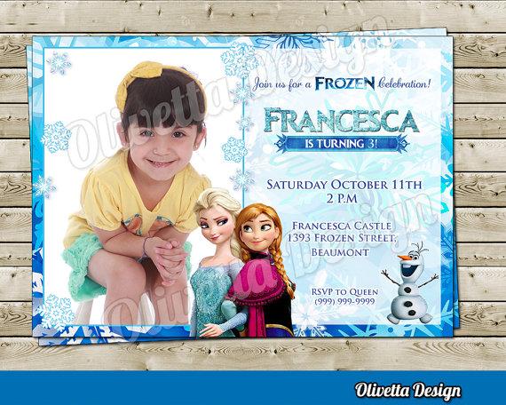 Elsa Anna Frozen Invitation - Frozen Birthday Invitation - Disney - invitation birthday frozen