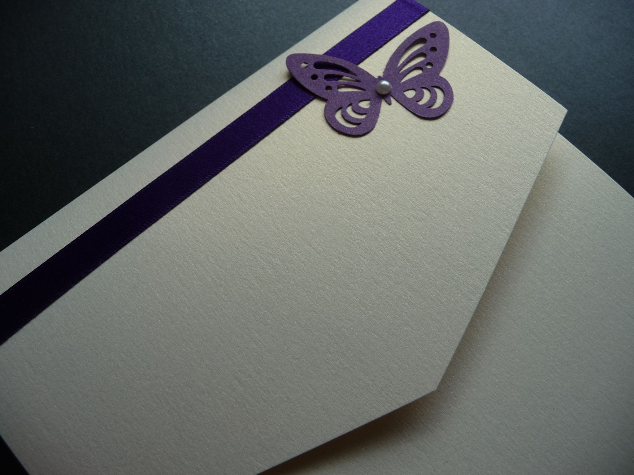 Cadbury Purple Wedding Invitations: Cadburys Purple And Ivory Butterfly Themed Pocketfold