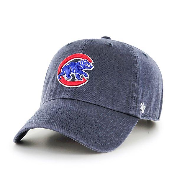874057ecec2 Chicago Cubs Vintage  Crawling Bear  Adjustable Navy Clean Up Hat   ChicagoCubs  Cubs  FlyTheW  MLB SportsWorldChicago.com