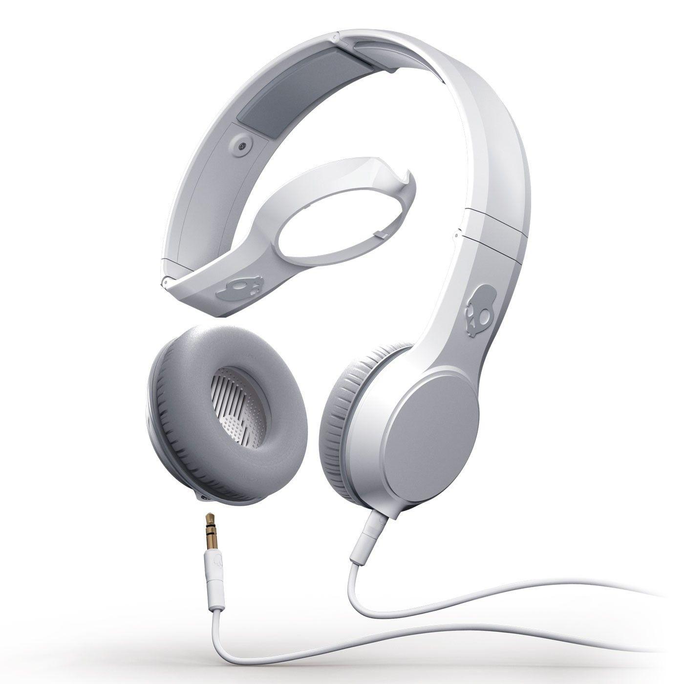 Skull Candy Cassette Athletic White Headphone Headphones