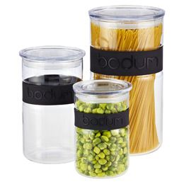 The Container Store Black Band Presso Glass Canisters By Bodum