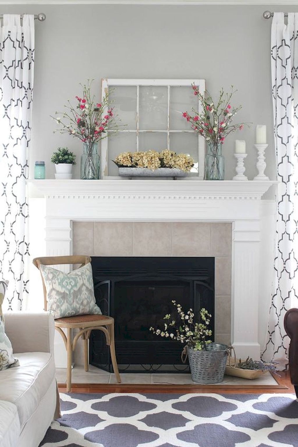 Gogeous Apartment Fireplace Decor Ideas 6 Farmhouse Decor Living Room Farm House Living Room Decor