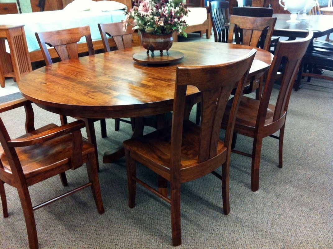 Oval cherry kitchen table
