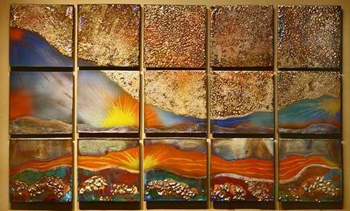 raku-tiles-wall-art - Steven Forbes-deSoule  sc 1 st  Pinterest & raku-tiles-wall-art - Steven Forbes-deSoule | RAKU | Pinterest ...