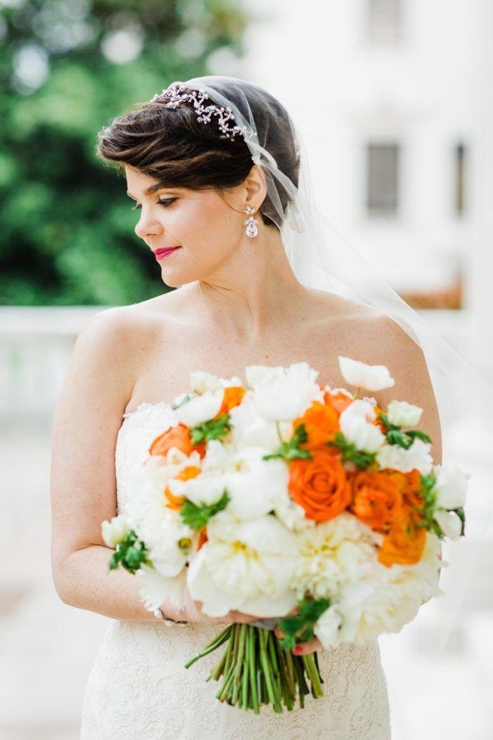 Kate Spade Inspired Dar Wedding Wedding Hair Ideas Short