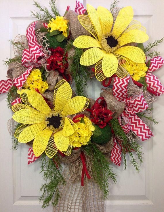 Spring/ Summer Mesh Wreath on Etsy, $139.00