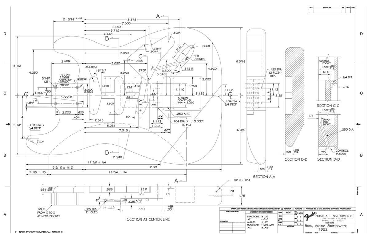 Image Result For Fender Strat Guitar Body Templates Guitar