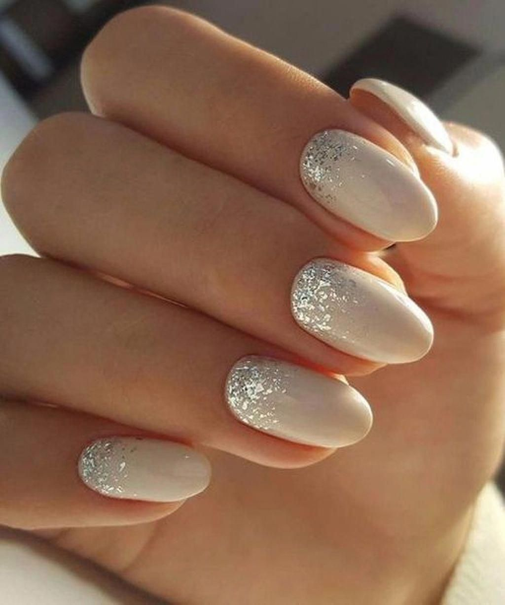Trim Nail Care Products Pink White And Gold Glitter Nails Engagmentnails Bride Nails Wedding Nails Design Wedding Nail Art Design