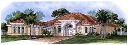 Mediterranean House Plan 3 Bedrooms 1 Bath 2951 Sq Ft Plan 55 196