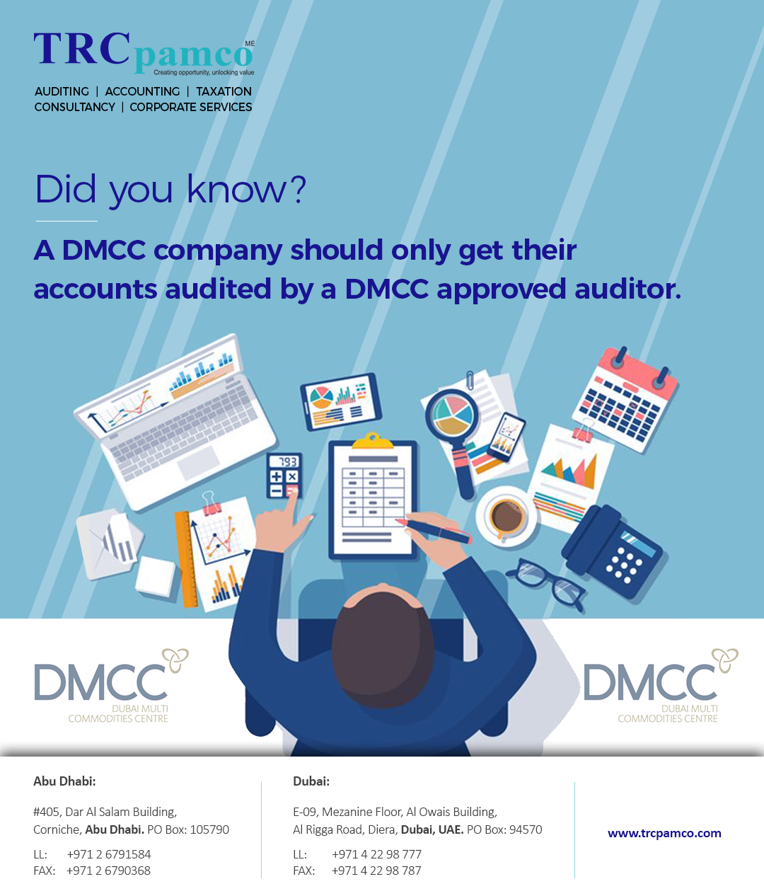 DMCC provides a list of approved auditors on it's website