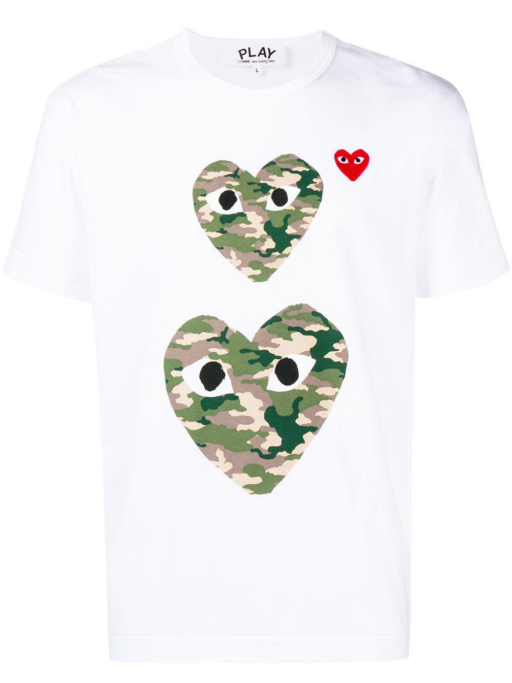 Play Heart Logo Camouflage Garcons ShirtShirts Comme Des T jUVSLqGzMp