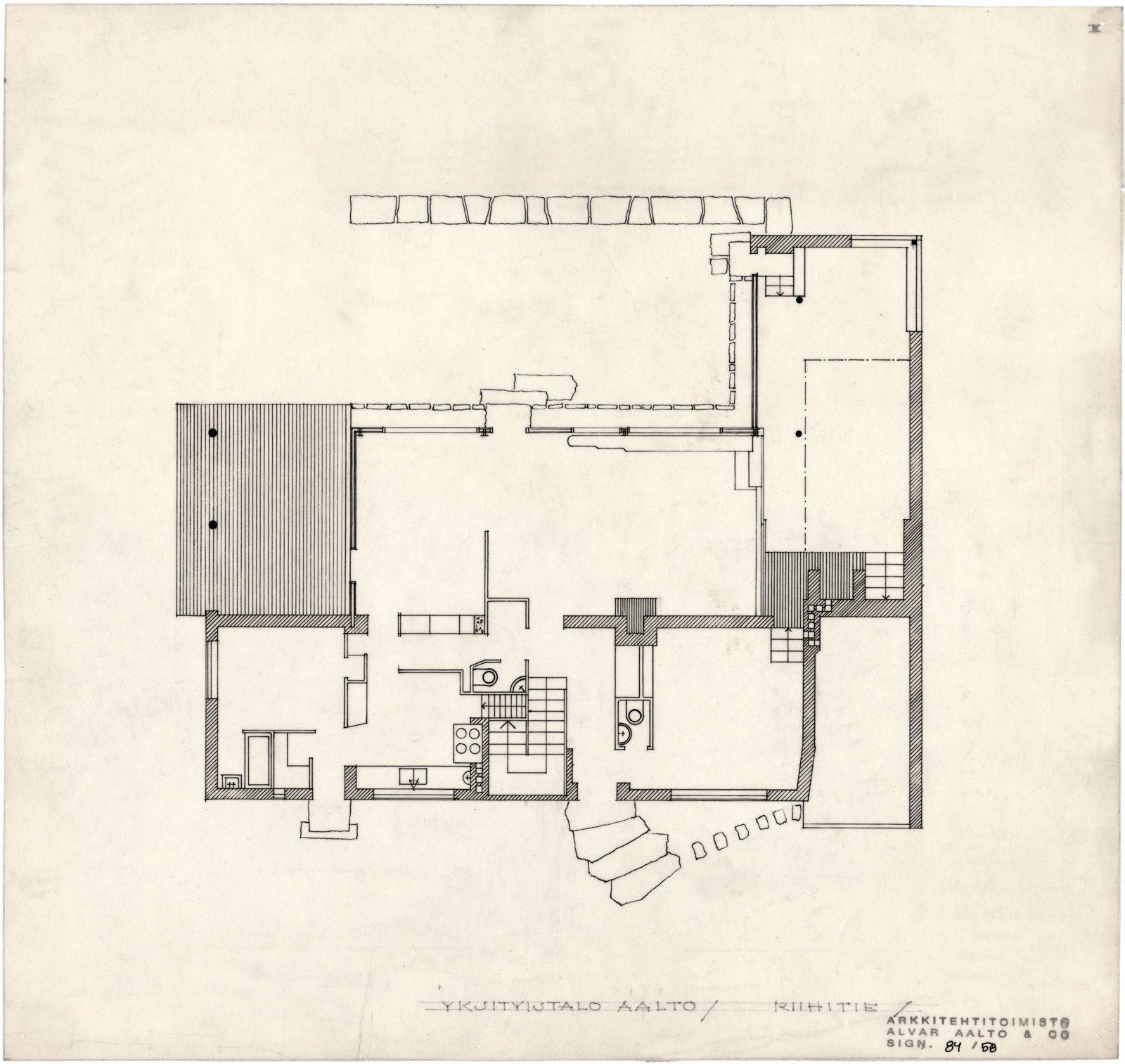 Aalto House Ground Floor Plan Casa De Estudiantes Casas