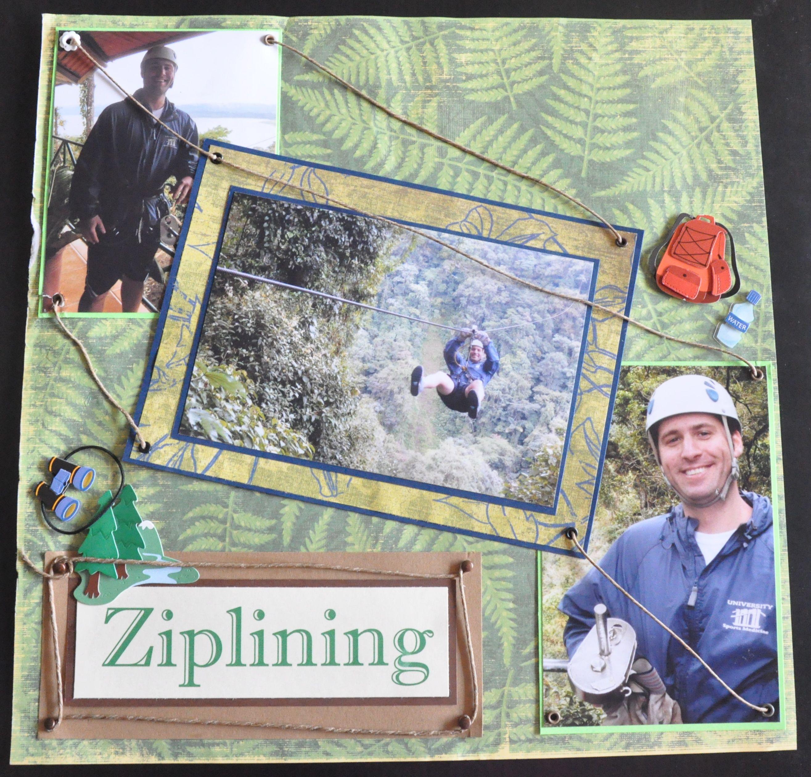 Ziplining scrapbook ideas - Ziplining Scrapbook Com