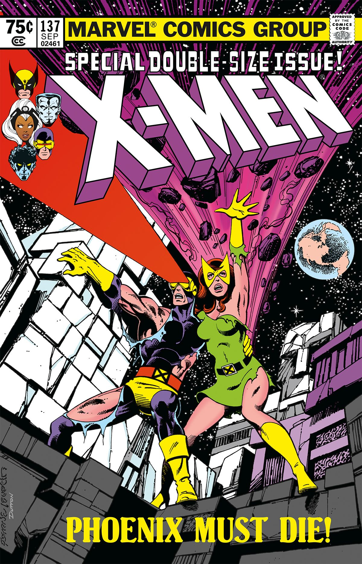 X Men No 137 Cover By Byrne Austin Vintage Comic Books X Men Comics