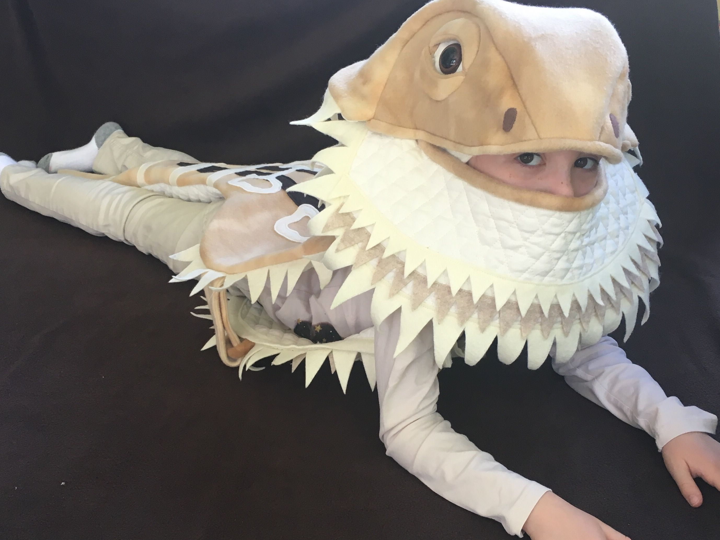 bearded dragon halloween costume by sew thrifty couture