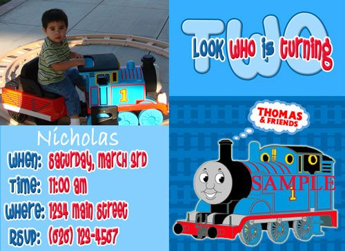 Custom photo birthday invitations thomas the tank engine train custom photo birthday invitations thomas the tank engine train filmwisefo