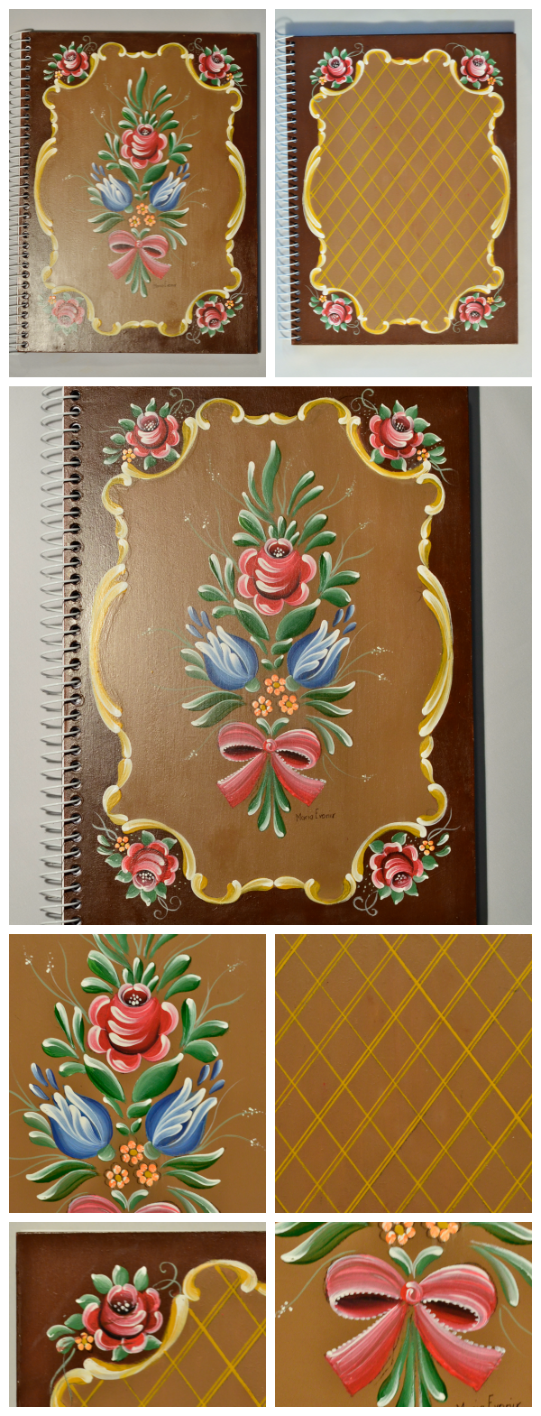 This book cover reminds me of a table my grandmother had in her house. This style of painting was on more than just the table. She must have liked it.